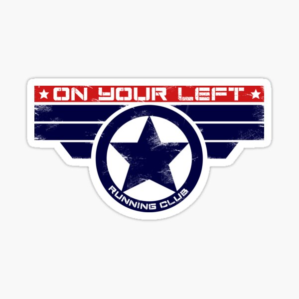 """On Your Left Running Club"" Hybrid Sticker"