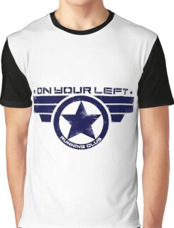 """""""On Your Left Running Club"""" Hybrid Distressed Print 1 Graphic T-Shirt"""