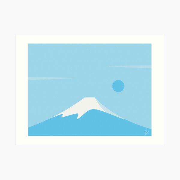 Mt Fuji Blue Art Print
