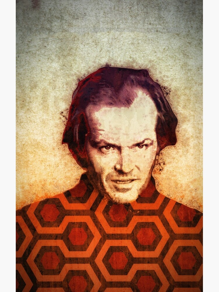 Jack Nicholson Kunst in Stanley Kubricks The Shining von densitydesign