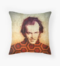Jack Nicholson art in Stanley Kubrick's The Shining Throw Pillow