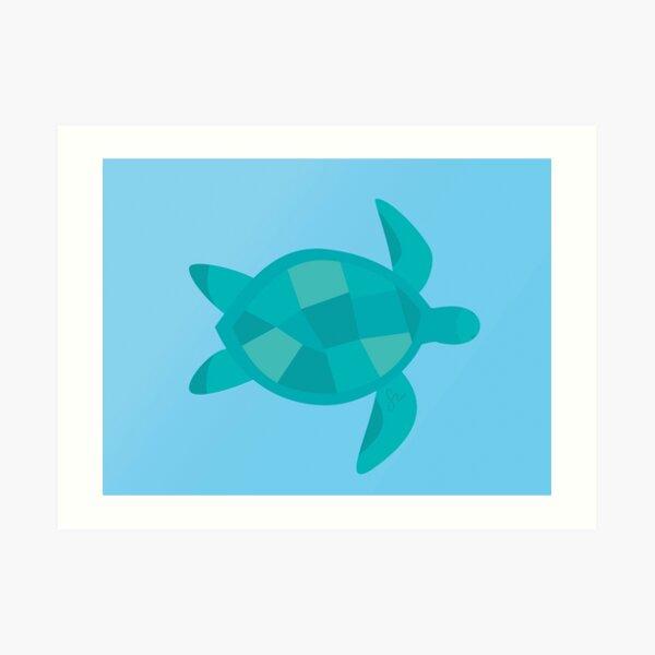 Minimalist Sea Turtle Art Print