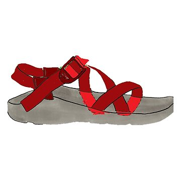 Red Chaco Shoe by alitmcgary