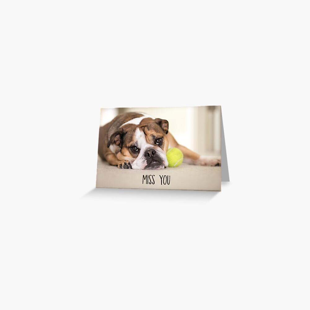 Miss You Greeting Card