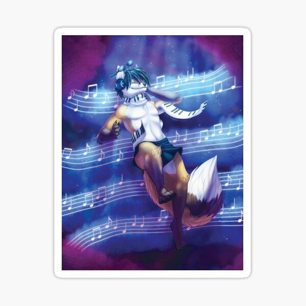Musical Space Sticker