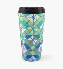 geometric blues Travel Mug