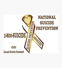 Prevent Suicide Ribbon Banner Photographic Print
