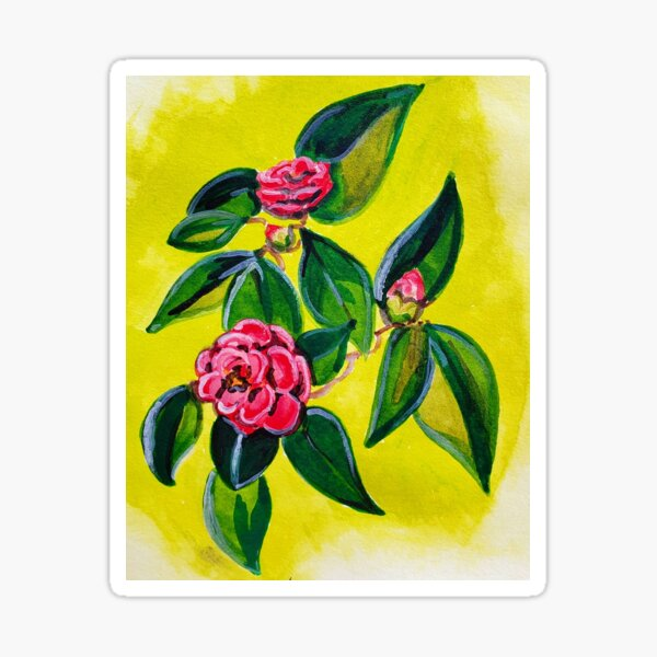 Lady of the Camellias: Watercolor Sticker