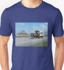 Horse & Carriage - Mont St. Michel, Normandy, France Unisex T-Shirt