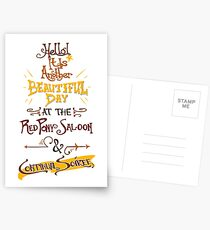 Another Beautiful Day at the Red Pony Saloon Postcards