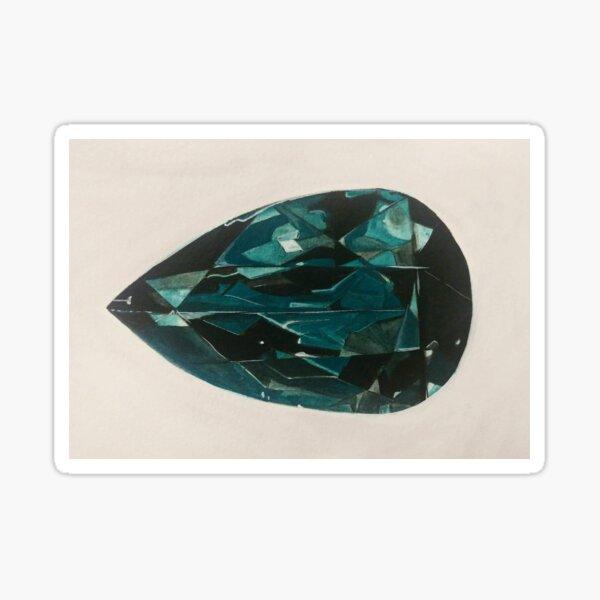 Blue Garnet: Watercolor Sticker