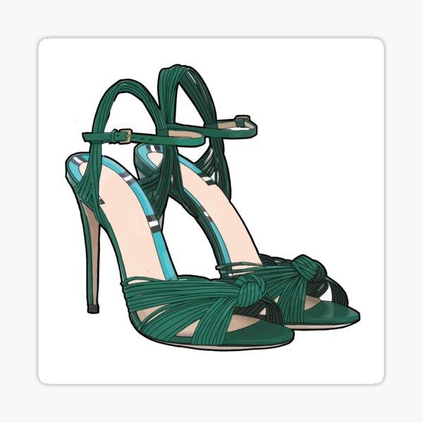 Green Heels Sticker