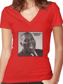 Howlin' Wolf Women's Fitted V-Neck T-Shirt