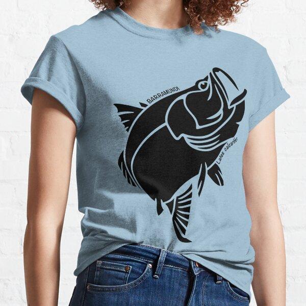 Barramundi Australian Ocean Animal Silhouette with name. Classic T-Shirt