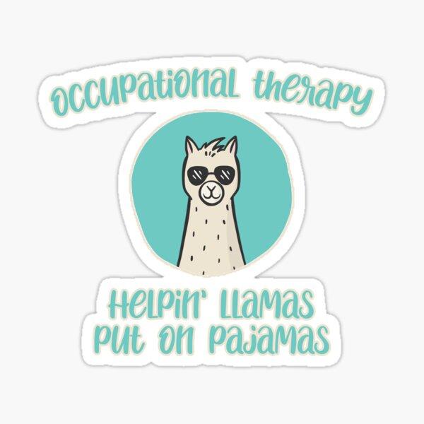 Occupational Therapy Llama - Put on Pajamas Sticker