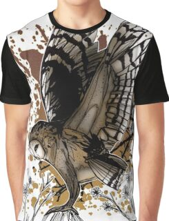 Barn Owl Stance Graphic T-Shirt