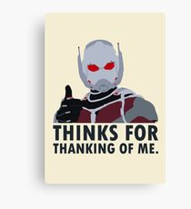 Thinks for thanking of me. Canvas Print