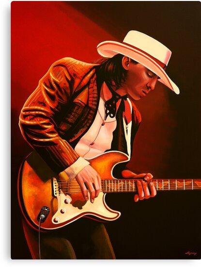Stevie Ray Vaughan painting by PaulMeijering