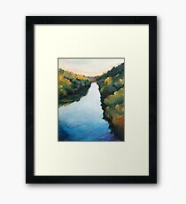Calm River Framed Print