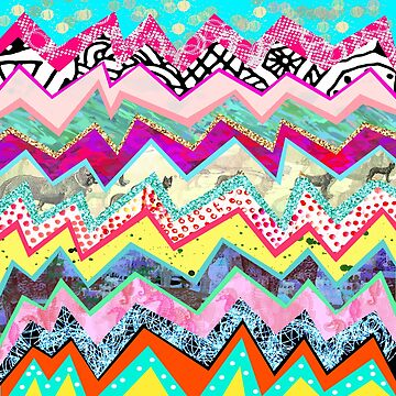 Rainbow Abstract Geometric Candy Land by homedeco