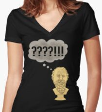 Socratic Method, Internet Style Women's Fitted V-Neck T-Shirt