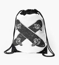 Skateboard X Drawstring Bag