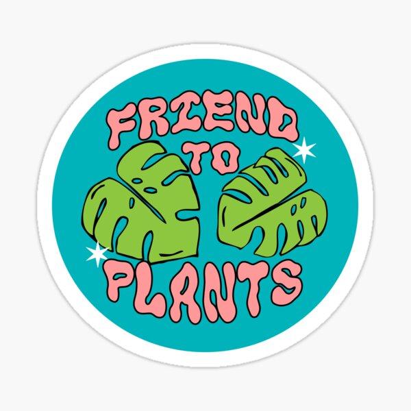 friend to plants | monstera leaf & stars Sticker