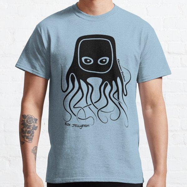 Box Jellyfish Australian Ocean Animal Silhouette with Name Classic T-Shirt