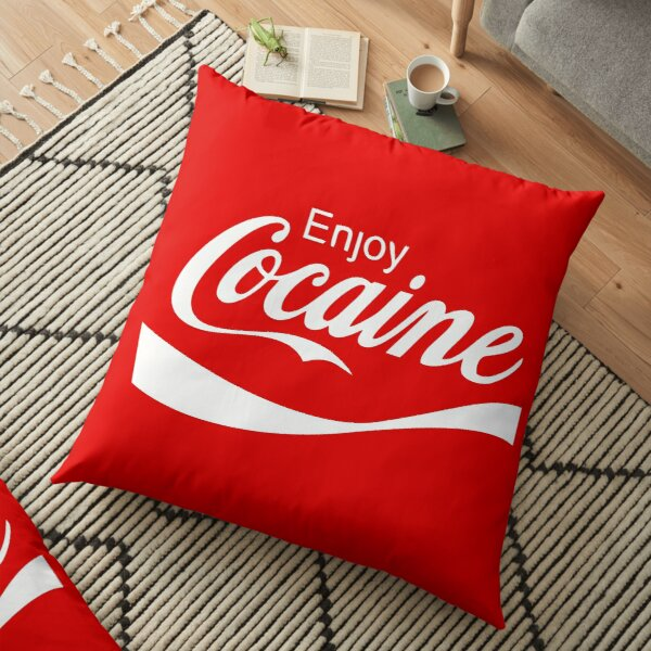 Enjoy Cocaine Floor Pillow