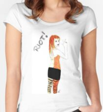 Riot Hayley Williams Drawing Women's Fitted Scoop T-Shirt