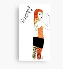 Riot Hayley Williams Drawing Canvas Print