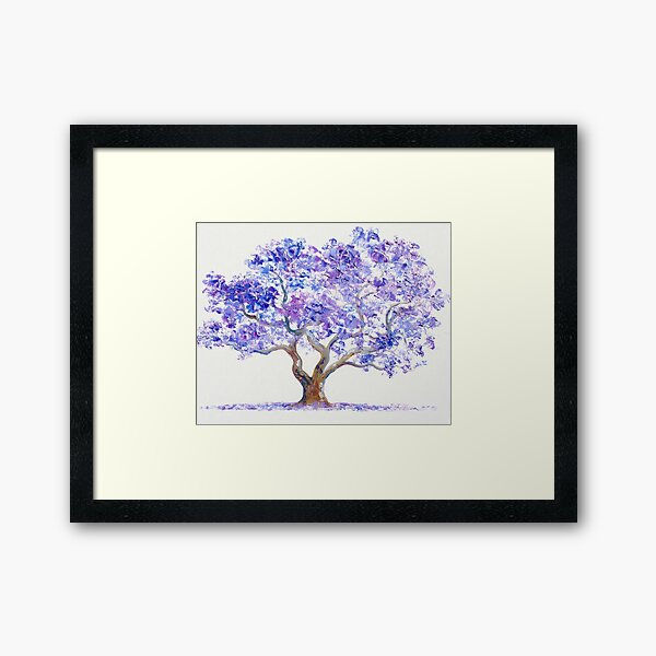 Jacaranda Tree painting Framed Art Print