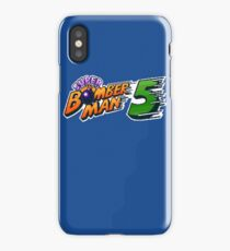 Super Bomberman 5 logotype iPhone Case/Skin
