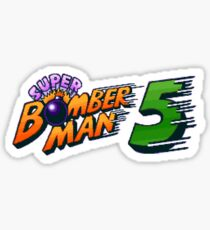 Super Bomberman 5 logotype Sticker