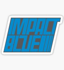 Impact Blue Sticker Sticker