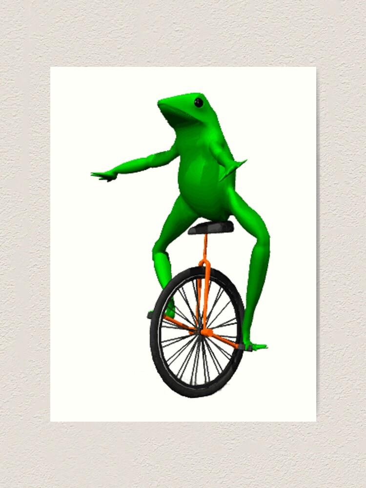 Alternate view of dat boi meme / unicycle frog  Art Print