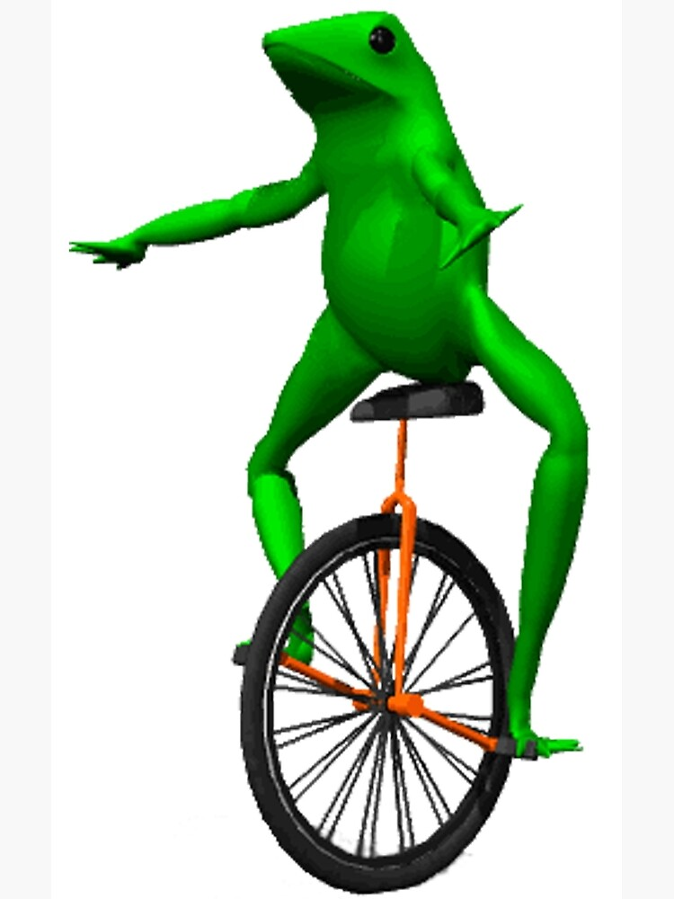 dat boi meme / unicycle frog  by JoeDaEskimo