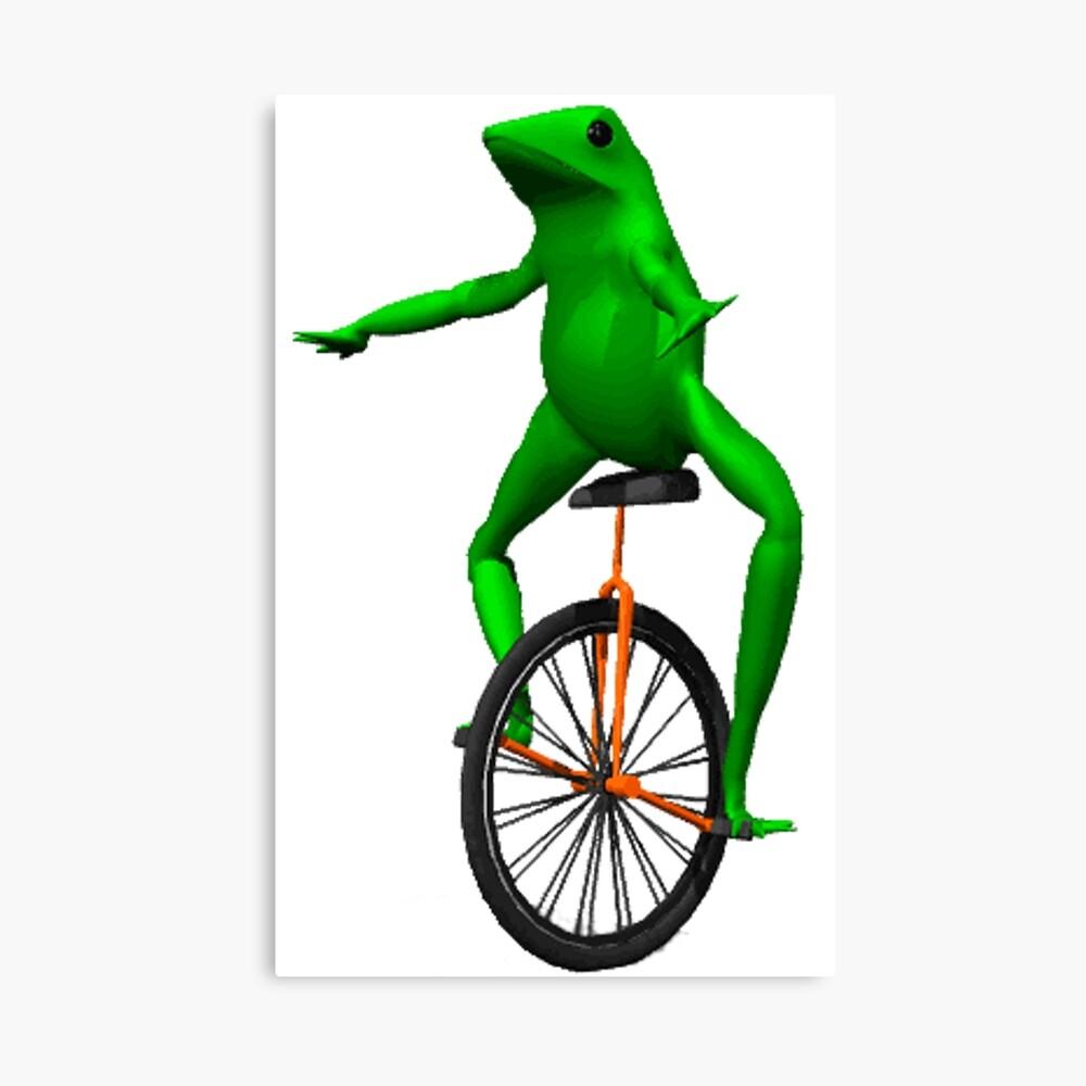 dat boi meme / unicycle frog  Canvas Print