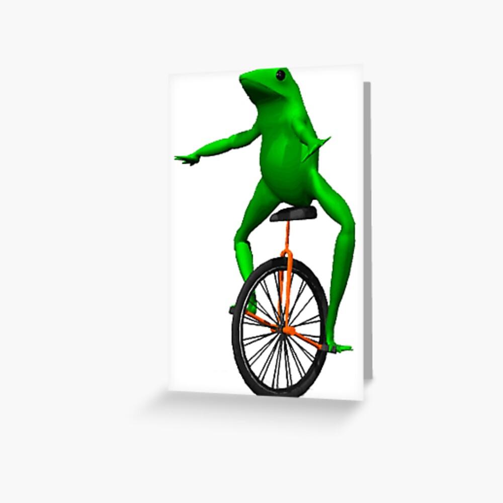dat boi meme / unicycle frog  Greeting Card