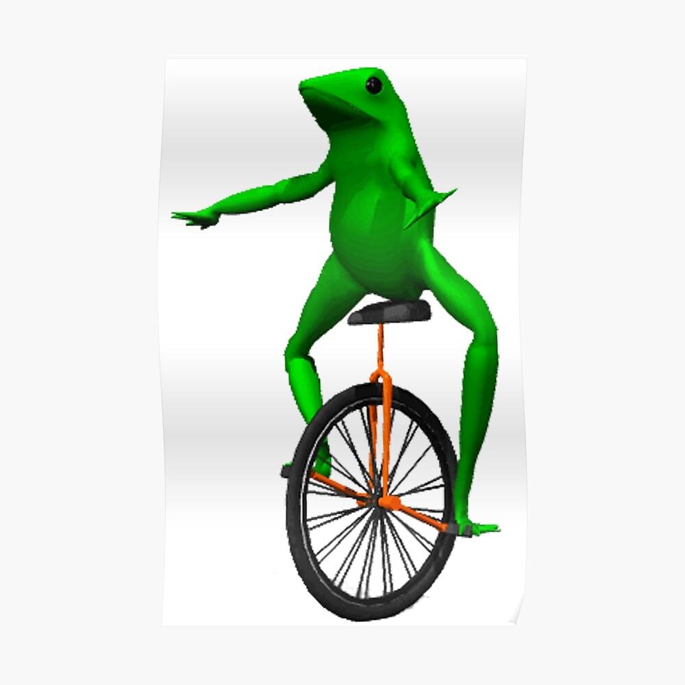 dat boi meme / unicycle frog  Poster