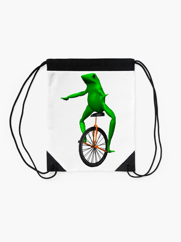 Alternate view of dat boi meme / unicycle frog  Drawstring Bag
