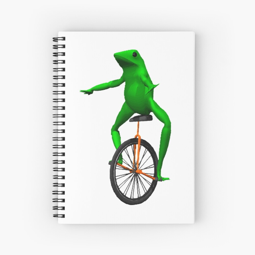 dat boi meme / unicycle frog  Spiral Notebook