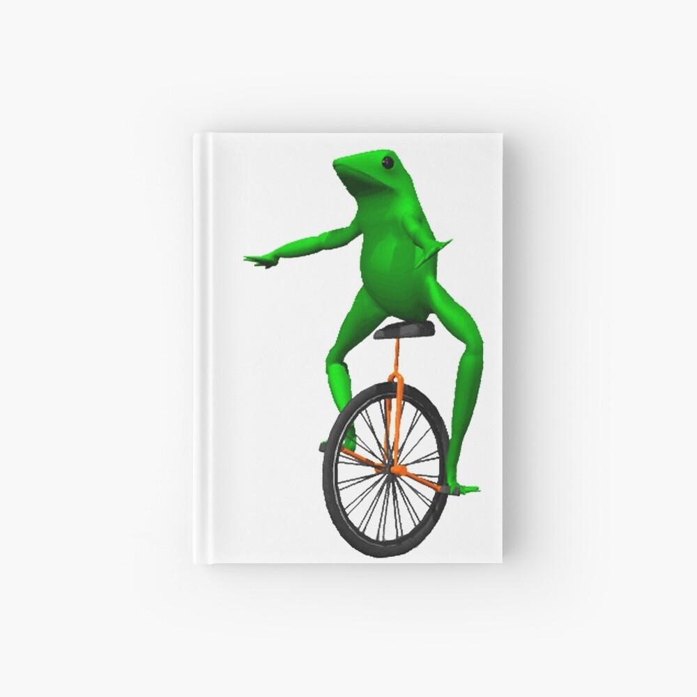 dat boi meme / unicycle frog  Hardcover Journal