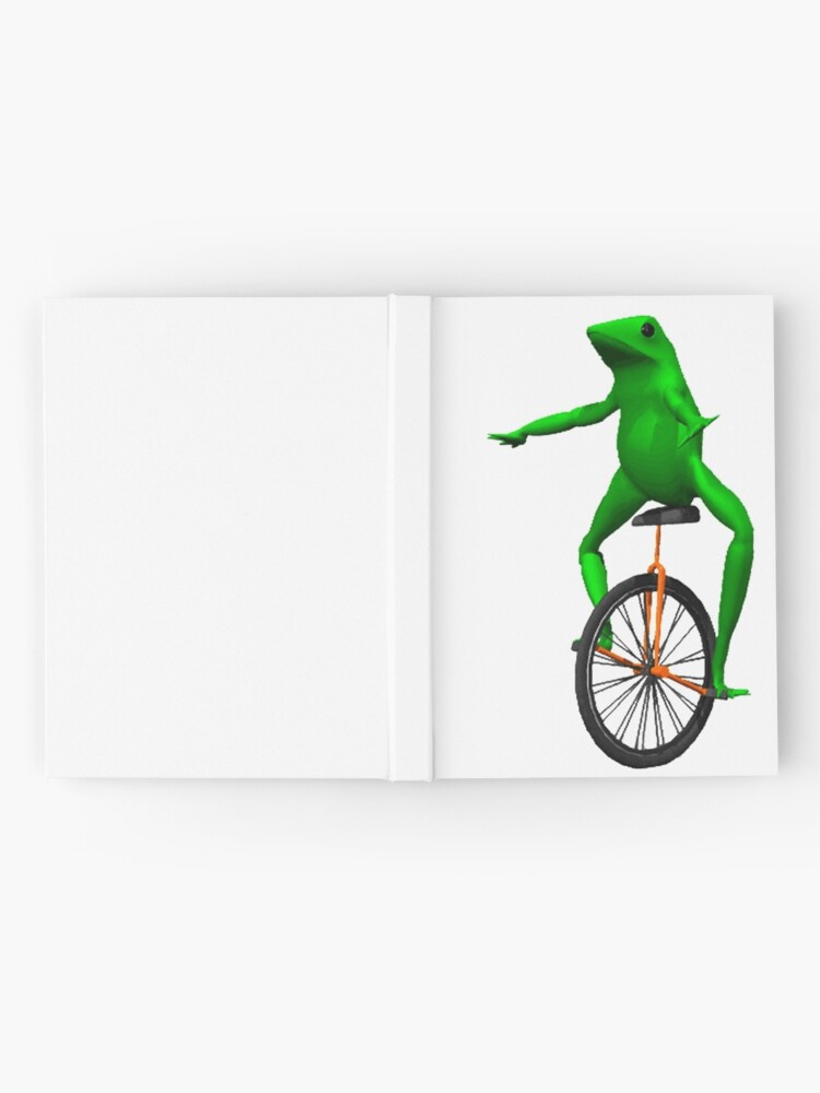 Alternate view of dat boi meme / unicycle frog  Hardcover Journal
