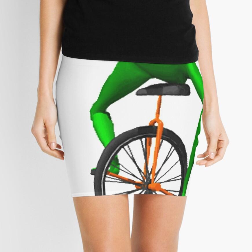 dat boi meme / unicycle frog  Mini Skirt