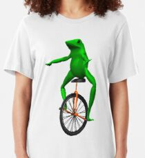dat boi meme / unicycle frog  Slim Fit T-Shirt