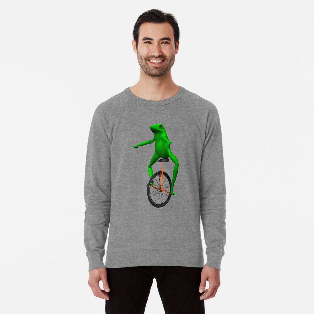 dat boi meme / unicycle frog  Lightweight Sweatshirt