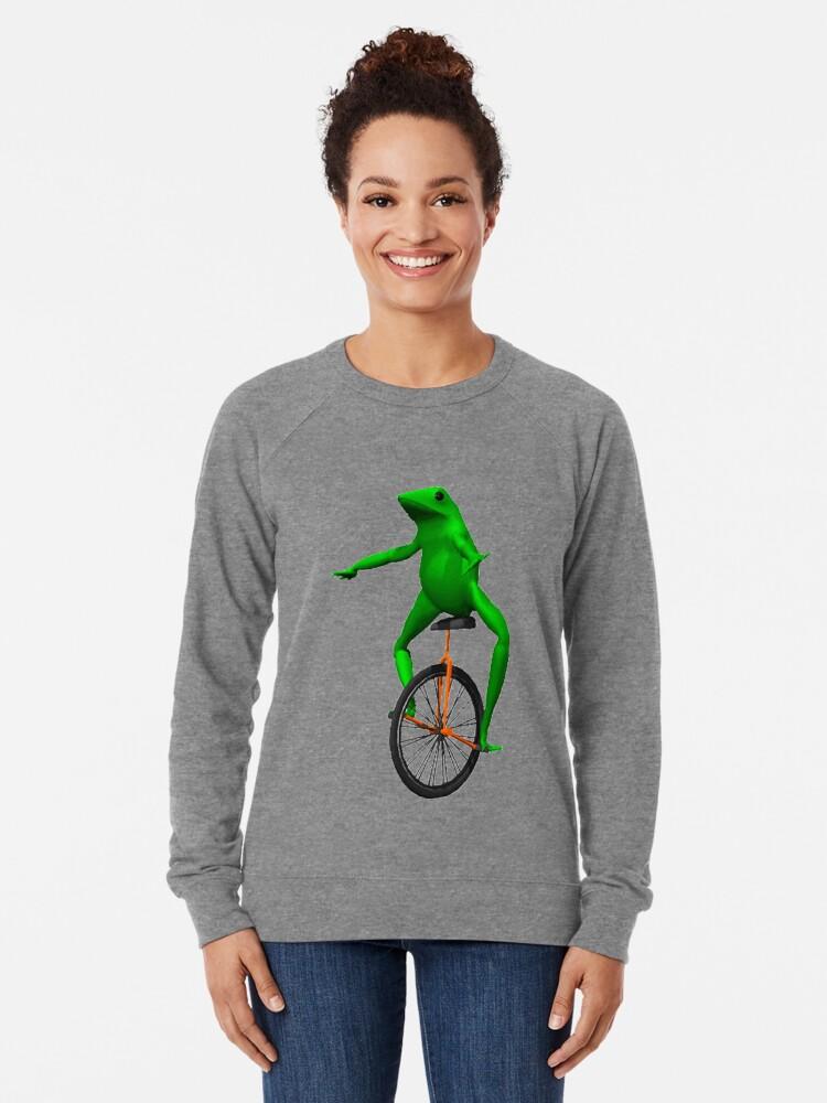 Alternate view of dat boi meme / unicycle frog  Lightweight Sweatshirt