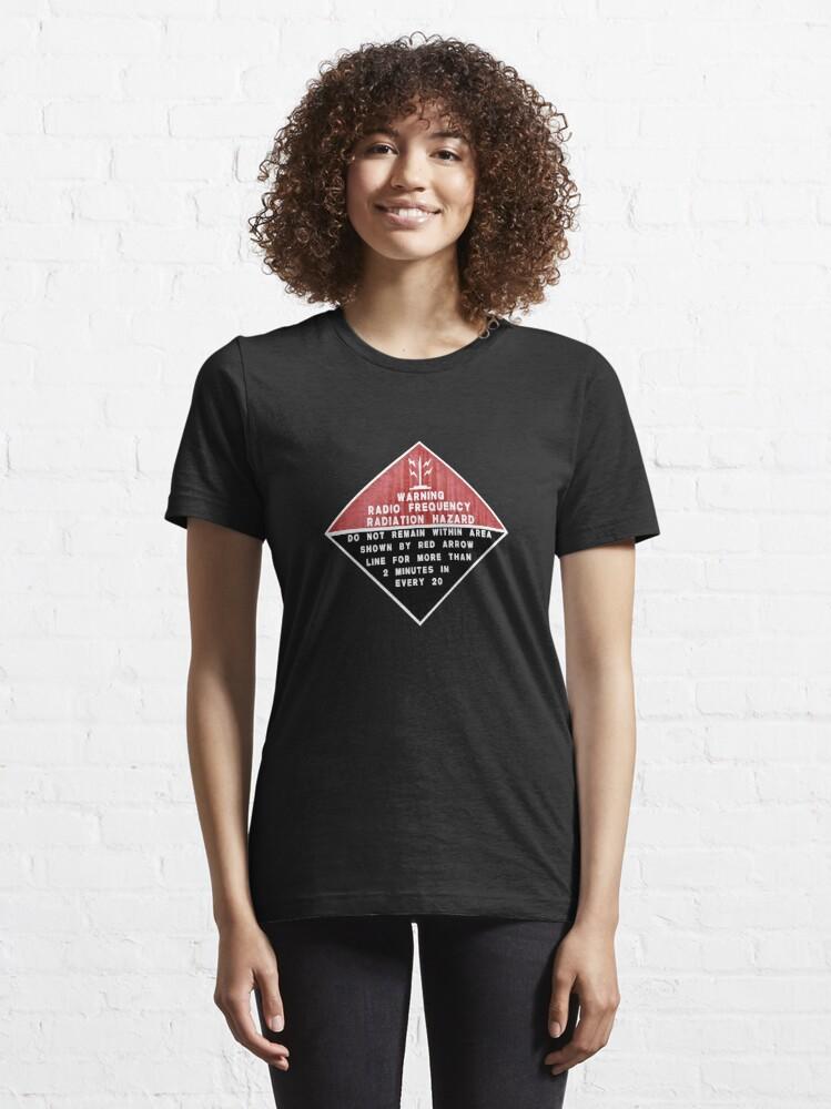 Alternate view of RF Radiation Hazard Essential T-Shirt