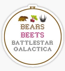 Bears Beets - Cross Stitch Sticker